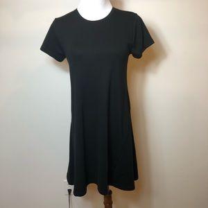 Zara black shirt sleeve dress size medium